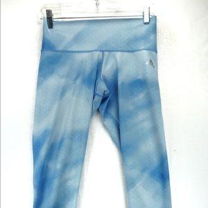 Adidas small blue cloud Capri leggings